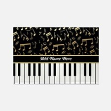 Personalized Piano musical notes designer Rectangl