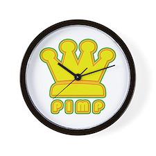 King Pimp Wall Clock