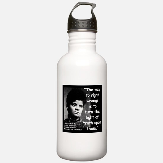 Wells Truth Quote 2 Water Bottle