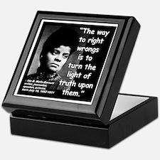 Wells Truth Quote 2 Keepsake Box