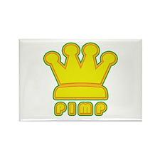 King Pimp Rectangle Magnet (10 pack)