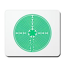 Green Labyrinth Mousepad