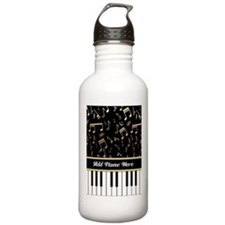 Personalized Piano Keys and Gold Music Notes Stain
