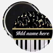 Personalized Piano and musical notes Magnet