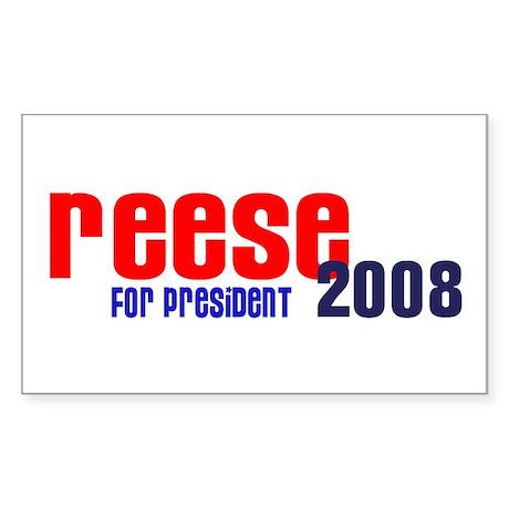 Reese for President 2008 Rectangle Sticker