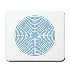 Blue Labyrinth Mousepad