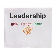 Leadership gets things done Throw Blanket