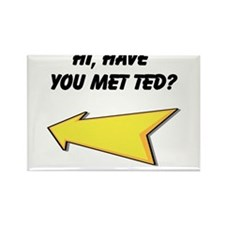 Hi Have You Met Ted? Rectangle Magnet