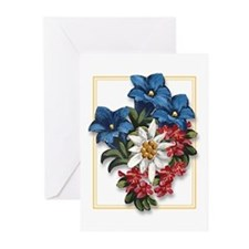Alpine Flowers Greeting Cards (Pk of 10)