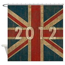 Vintage Union Jack 2012 Shower Curtain