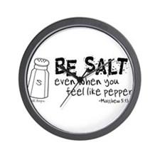 Be Salt Wall Clock