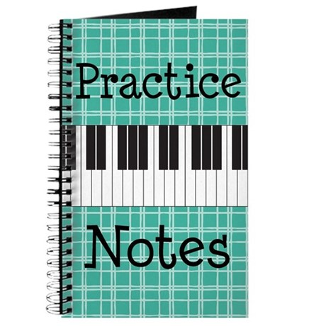 Piano Music Practice Notes Journal