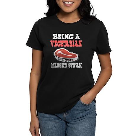 Vegetarian or Vegan Huge Missed Steak Women's Dark