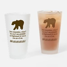 Bears Are Just As Afraid Drinking Glass