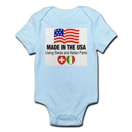 Swiss Italian Parts Infant Creeper