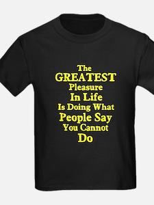 Greatest Pleasure In Life T