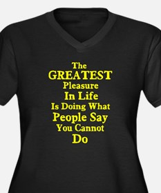 Greatest Pleasure In Life Women's Plus Size V-Neck
