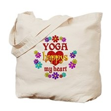 Yoga Happy Tote Bag