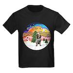 Xmusic2-Spinone (c) Kids Dark T-Shirt
