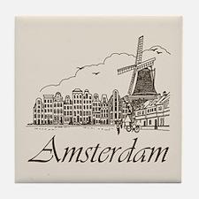 Vintage Amsterdam Tile Coaster