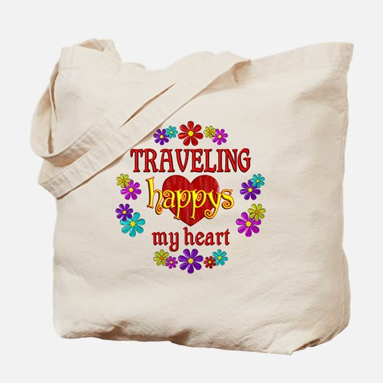 Traveling Happy Tote Bag