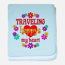 Traveling Happy baby blanket