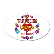 Traveling Happy Wall Decal