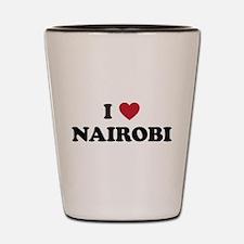 I Love Nairobi Shot Glass