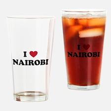 I Love Nairobi Drinking Glass