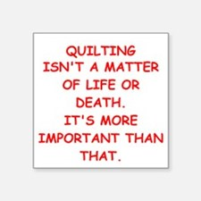 """QUILTING Square Sticker 3"""" x 3"""""""
