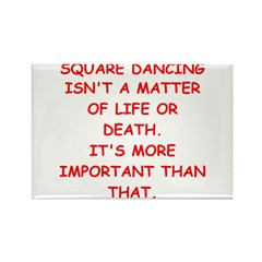 SQUARE dancing Rectangle Magnet (10 pack)