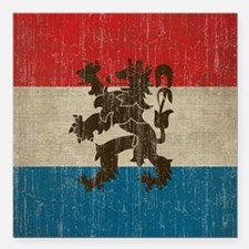 "Vintage Netherlands Square Car Magnet 3"" x 3"""