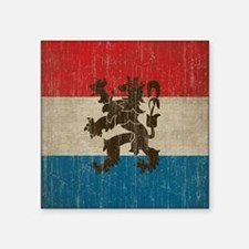 "Vintage Netherlands Square Sticker 3"" x 3"""
