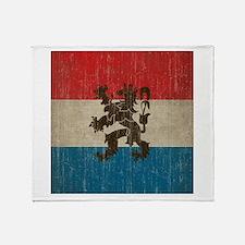 Vintage Netherlands Throw Blanket