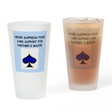 duplicate bridge Drinking Glass