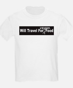 Will Travel For Vegan Food Bumper Sticker T-Shirt
