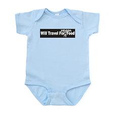 Will Travel For Vegan Food Bumper Sticker Infant B