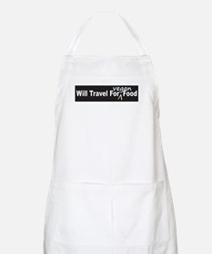 Will Travel For Vegan Food Bumper Sticker Apron