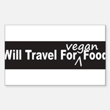 Will Travel For Vegan Food Bumper DecalDecal