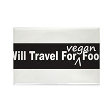 Will Travel For Vegan Food Bumper Sticker Rectangl