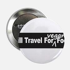 "Will Travel For Vegan Food Bumper Sticker 2.25"" Bu"