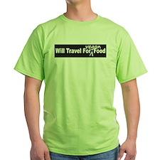 Will Travel For Vegan Food Bumper Sticker T-Shirt