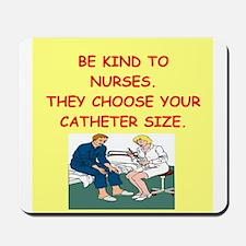 nurse joke Mousepad