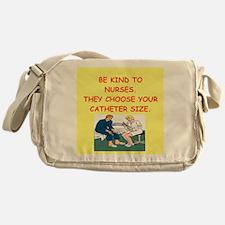 nurse joke Messenger Bag