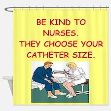 nurse joke Shower Curtain