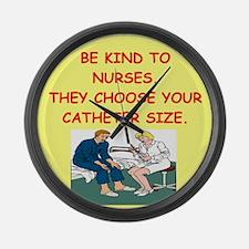 nurse joke Large Wall Clock