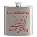 Constance On Fire Flask