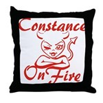 Constance On Fire Throw Pillow