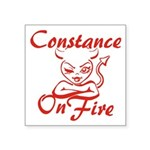 Constance On Fire Square Sticker 3