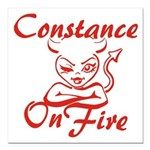 Constance On Fire Square Car Magnet 3